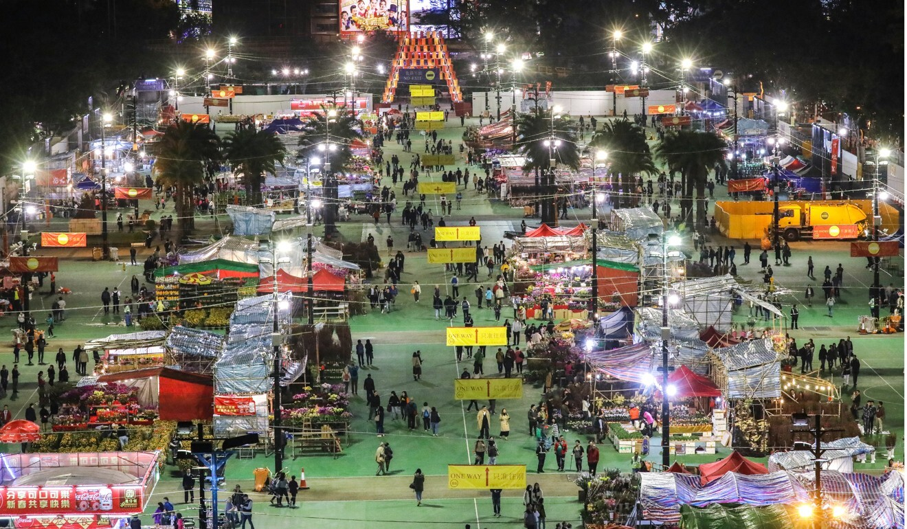 The Lunar New Year flower fair at Victoria Park is the biggest in Hong Kong. Photo: K. Y. Cheng
