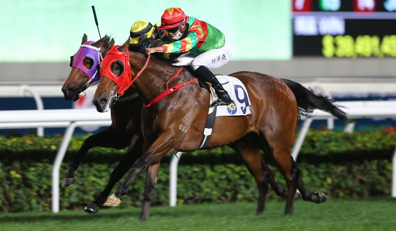 Tourbillon Diamond is pushed to victory by Vincent Ho last month.