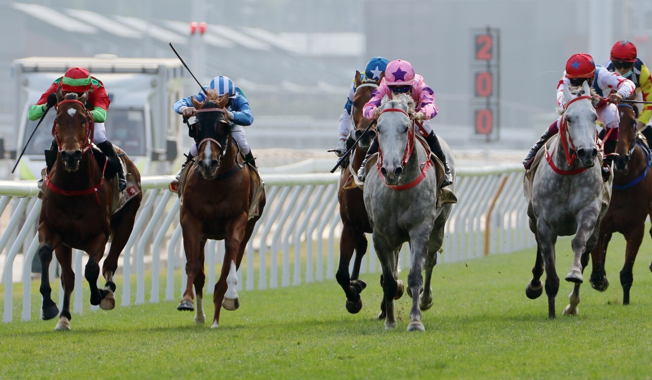 Regency Legend (left) runs on nicely into second after a lengthy lay-off.