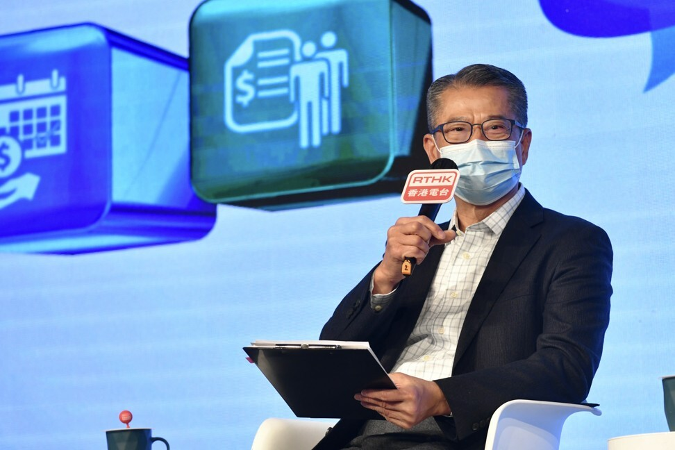 Financial Secretary Paul Chan said the city's latest green bond issuance will help catalyse further grow Hong Kong's green financing market. Photo: Handout