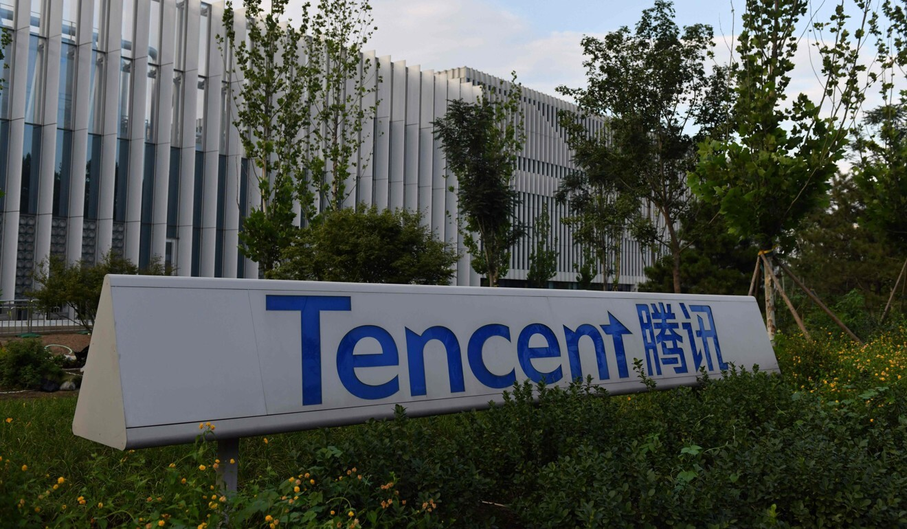 The Beijing headquarters of Tencent, the parent company of Chinese social media company WeChat. Photo: AFP