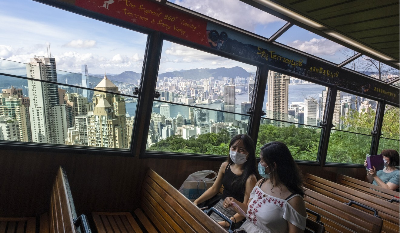 The usually busy Peak Tram wears an empty look amid a lack of tourists. Photo: Sun Yeung