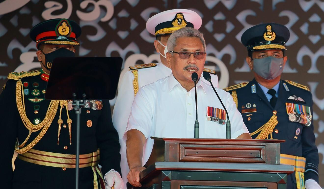 Sri Lankan President Gotabaya Rajapaksa is said to be revisiting the port deal with China. Photo: Xinhua