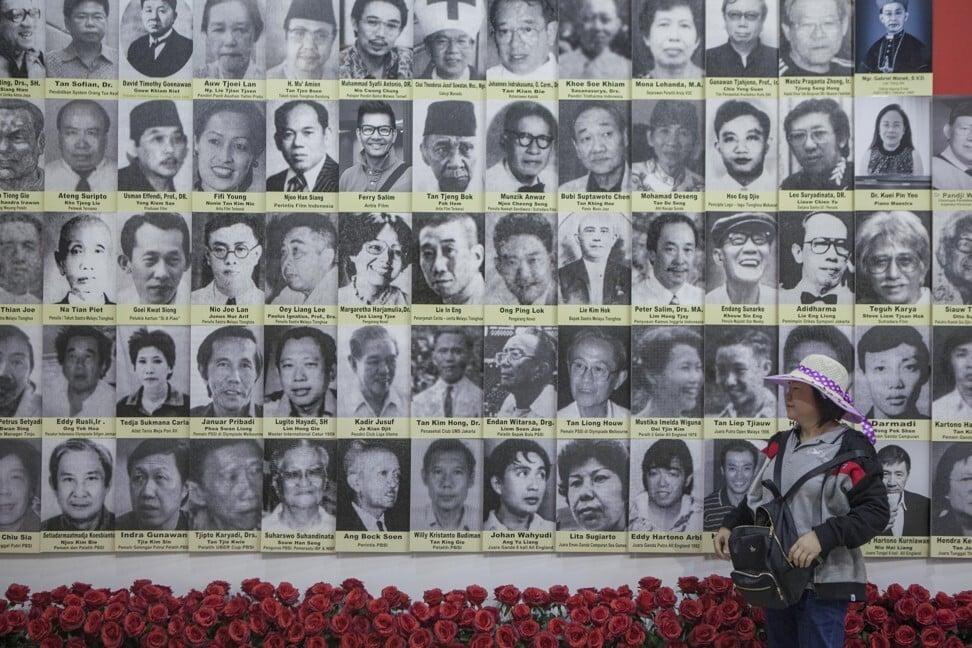 Foto-foto warga keturunan Tionghoa yang berjasa bagi Indonesia di berbagai bidang dipajang di Museum Hakka di Jakarta, Indonesia.  Foto: Agoes Rudianto