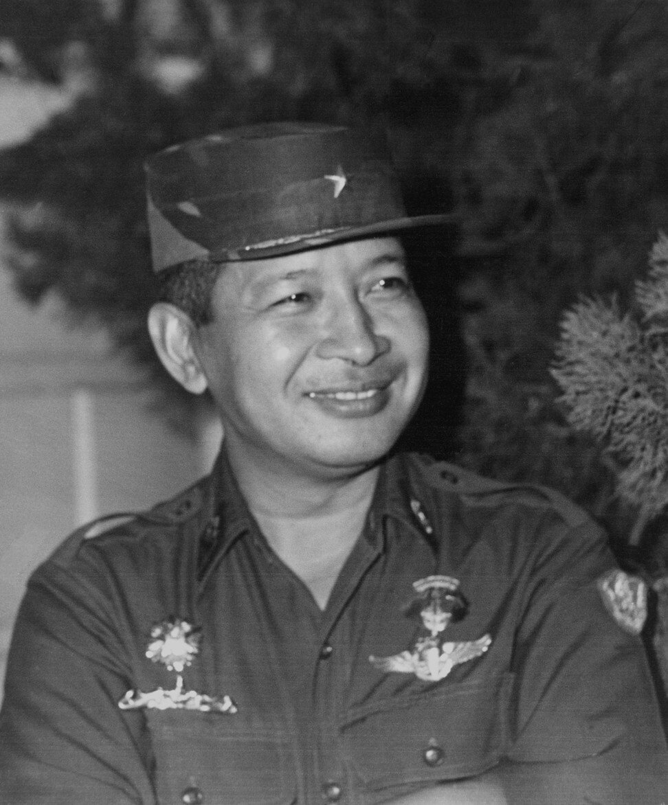 Indonesian military strongman Suharto, in 1967, in Jakarta. Photo: AFP