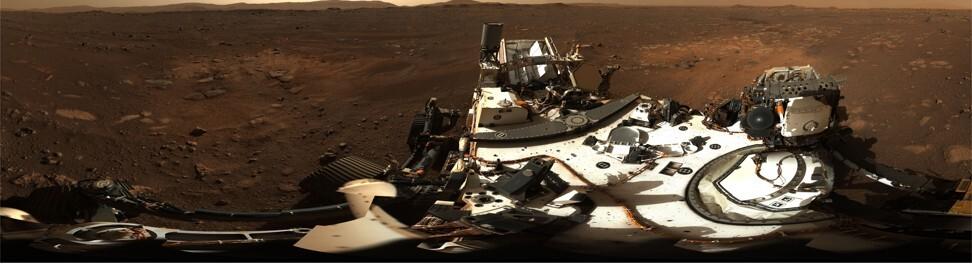 Nasa's Perseverance rover shows the view from the surface of Mars. Photo: NASA/DPA