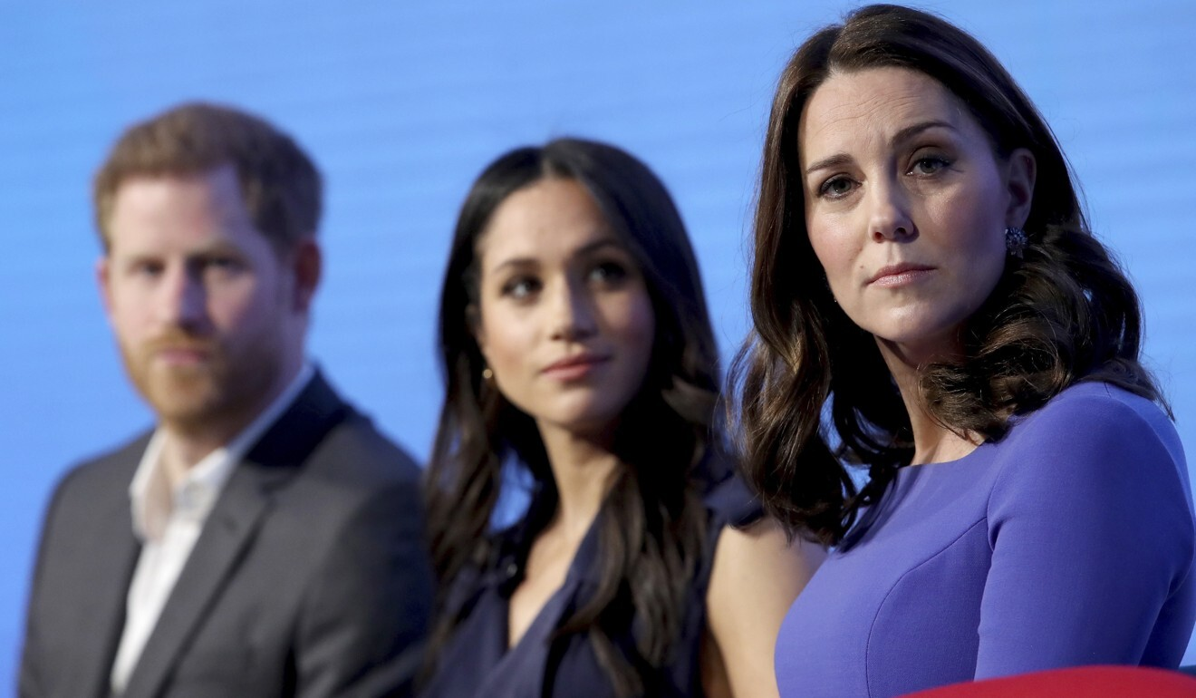 Harry, Meghan and Kate pictured at an event in 2018. Meghan was the subject of numerous unfavourable media comparisons with her sister-in-law. Photo: AP