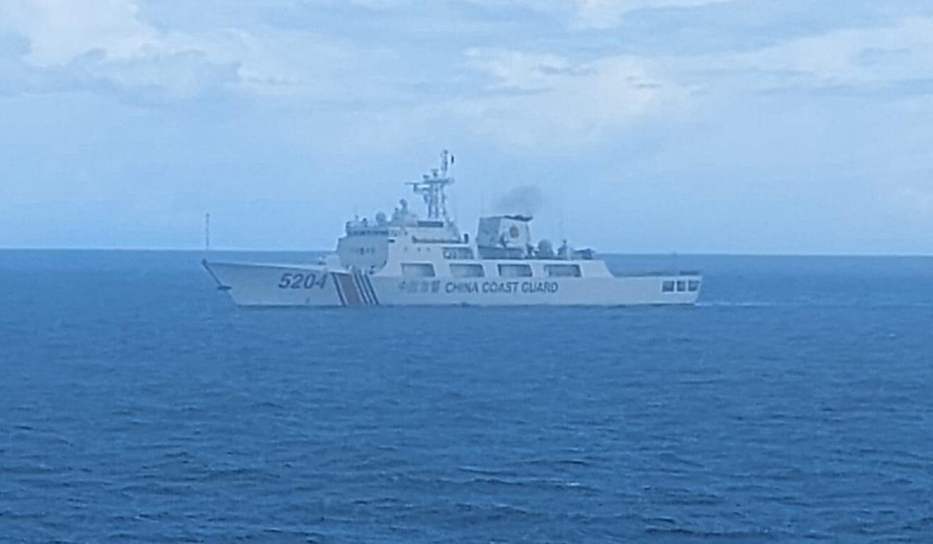 A Chinese coastguard vessel in the waters around Indonesia's Natuna Islands. Photo: Indonesian Maritime Security Agency