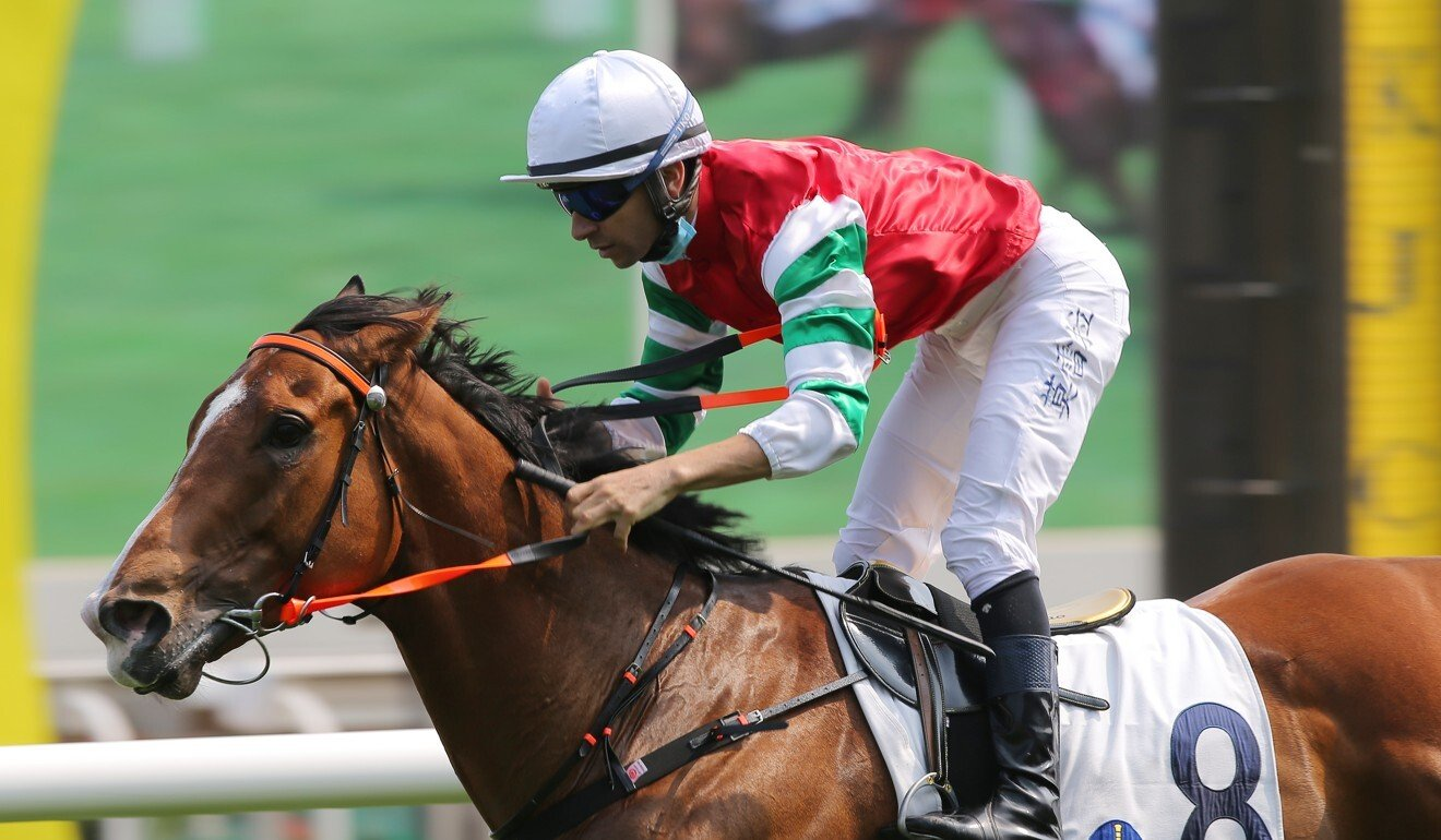 Joao Moreira punches home a winner at Sha Tin on the weekend.