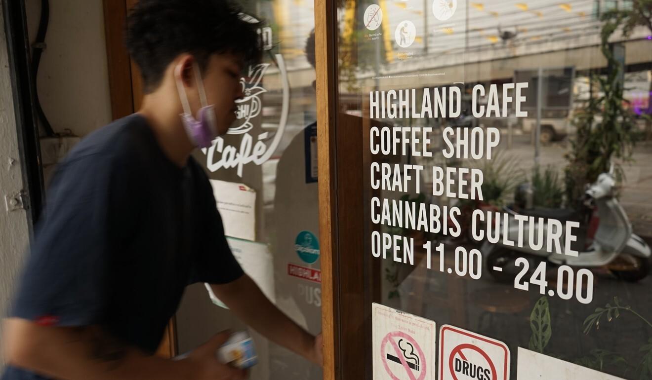 One of the original marijuana-themed café 'Highland' in Bangkok. Photo: Vijitra Duangdee