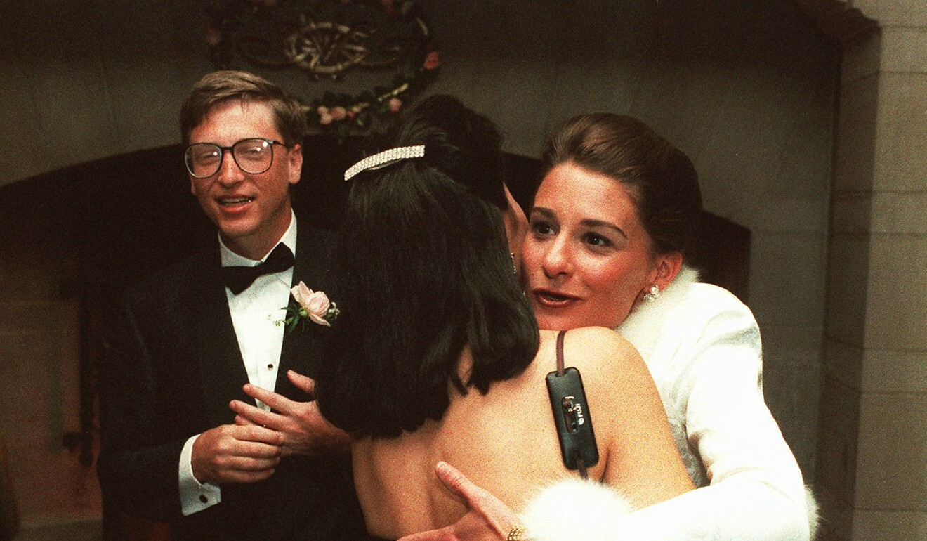 Bill and Melinda Gates on their wedding day in 1994. File photo: AP