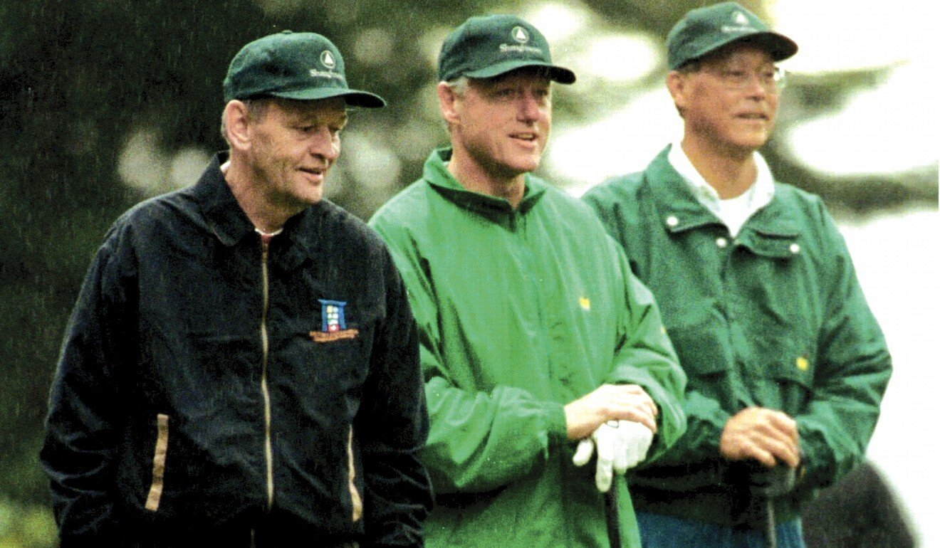 Singapore Prime Minister Goh Chok Tong, US President Bill Clinton and Canadian Prime Minister Jean Chretien play golf on the sidelines of the Apec Summit in Vancouver, November 1997. Photo: Goh Chok Tong's Collection