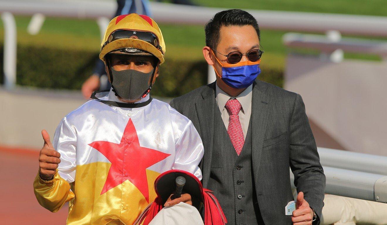 Karis Teetan and Jimmy Ting enjoy Man Star's win.