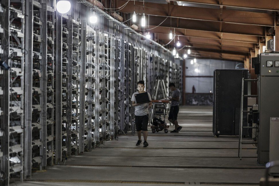 A cryptocurrency mining facility operated by Bitmain Technologies in the city of Ordos in the Inner Mongolia autonomous region on Friday, August 11, 2017. Photo: Bloomberg