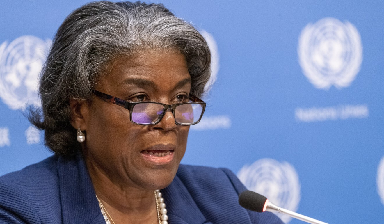 """US Ambassador to the United Nations Linda Thomas-Greenfield joined the call for China to grant the UN's human rights chief """"immediate, meaningful and unfettered access"""" to Xinjiang. Photo: AP"""