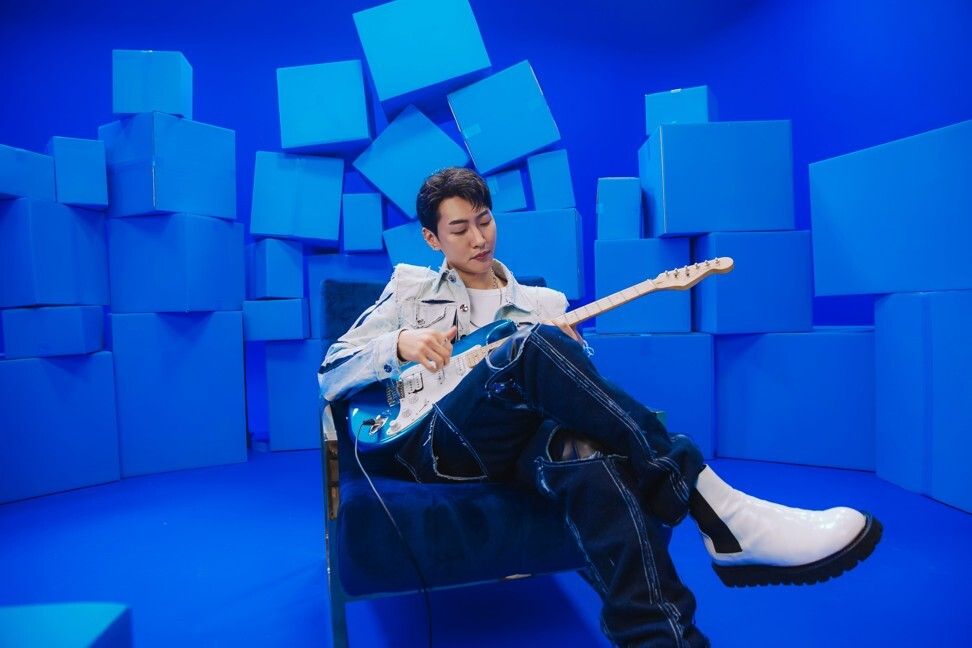 Shaun's new songs Blue and Closed Ending were released on an album titled #0055b7 – the hex code used in digital art for the colour blue. Photo: Warner Music