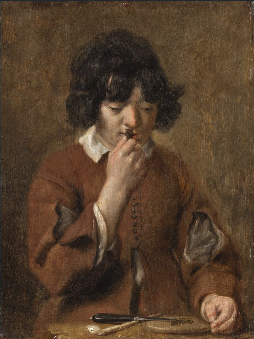 Michaelina Wautier's A Boy Smelling Tobacco.