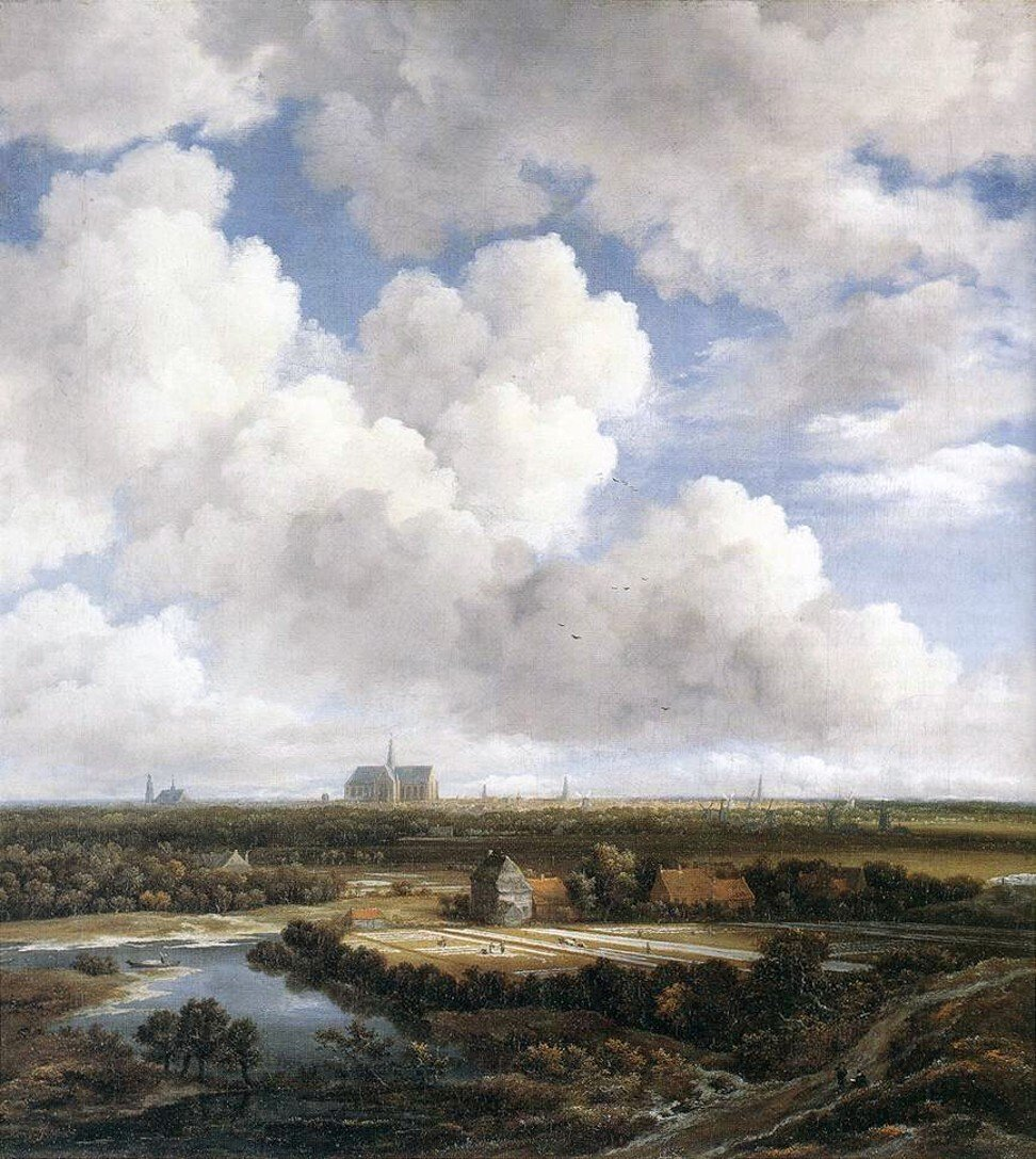 View of Haarlem with Bleaching Fields by Jacob van Ruisdael. When he painted it, such fields would have given off a sharp odour.