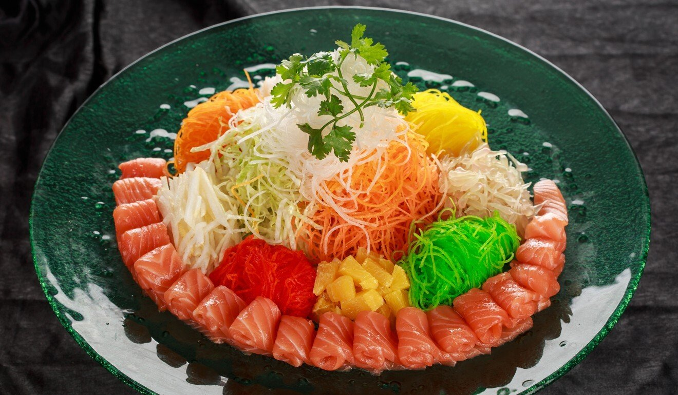Yu sheng, or yee sang, is tossed for good luck. Photo: Shutterstock