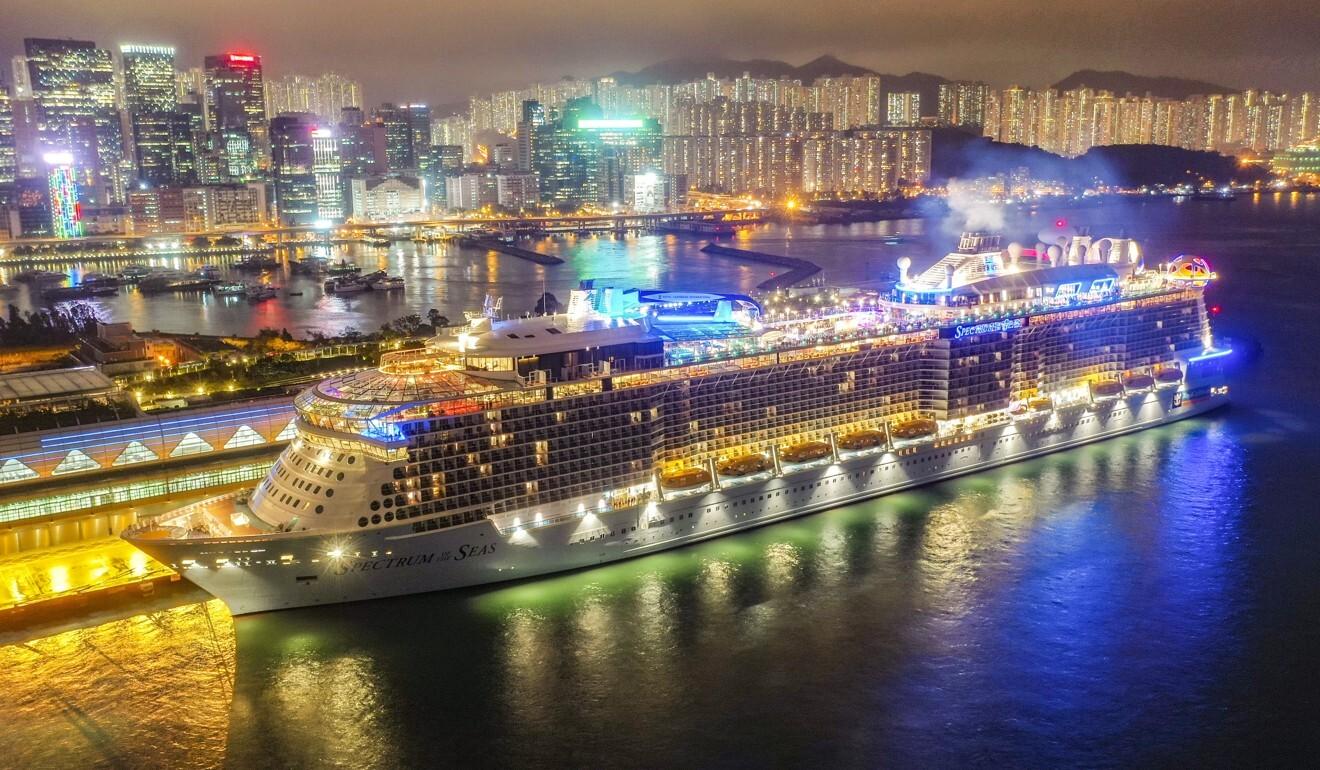 Royal Caribbean's Spectrum of the Seas docked at Kai Tak Cruise Terminal. Photo: Martin Chan