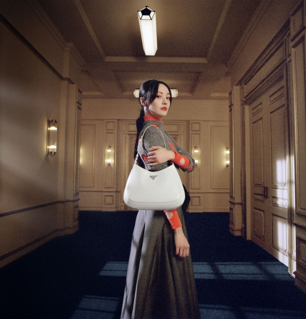 Zheng Shuang, seen here in an advert for luxury brand Prada, has fallen from public favour after her massive salary for a TV show was revealed. Photo: Prada