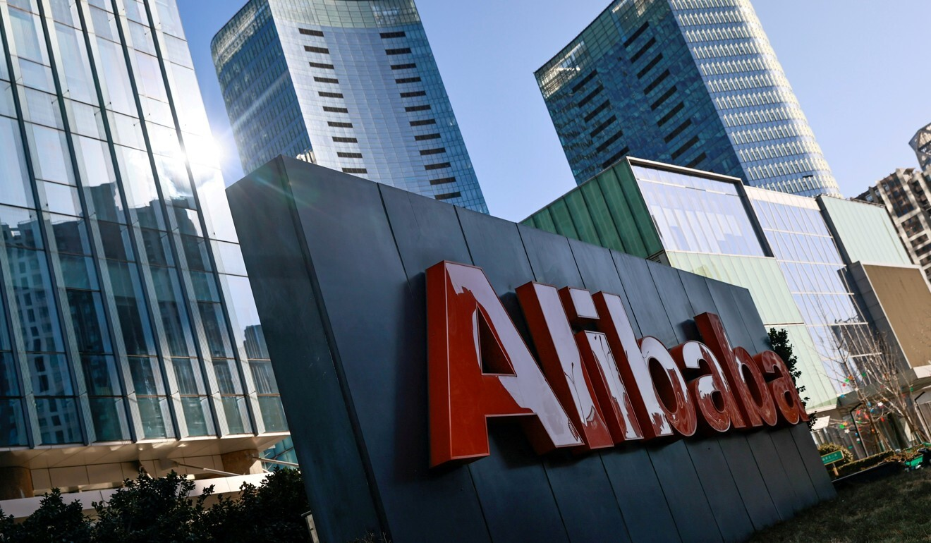 The Alibaba logo is seen at its office in Beijing, January 5, 2021. Photo: Reuters
