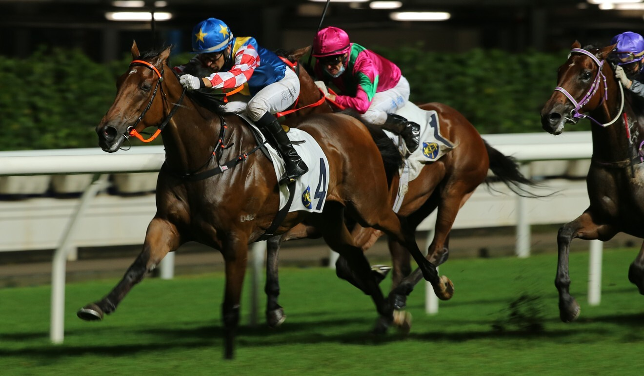 Joao Moreira drives Telecom Fighters to victory last start.