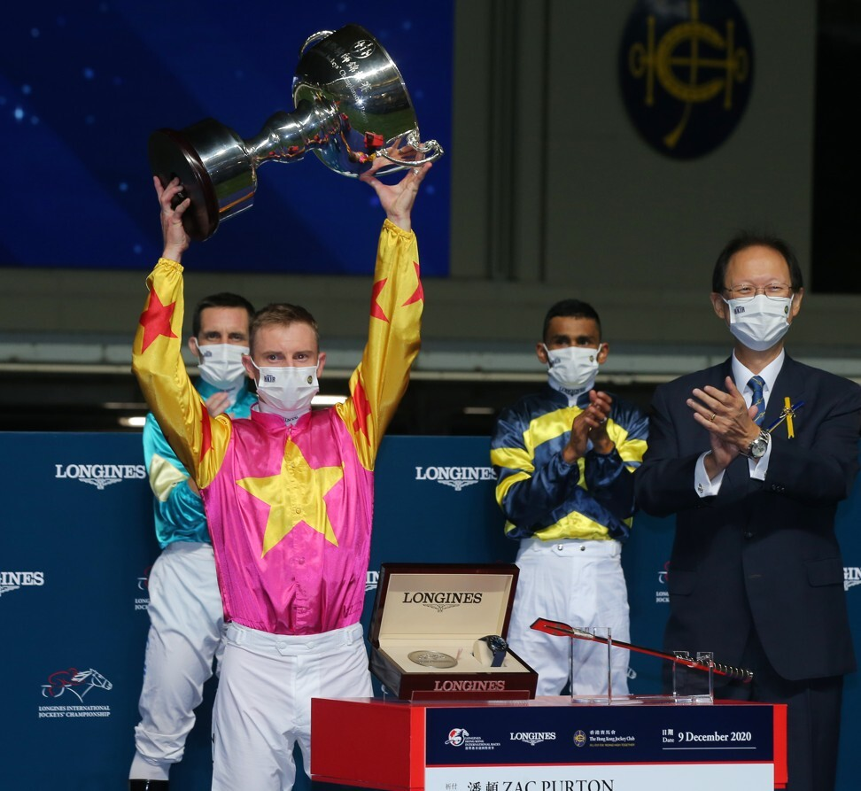 Zac Purton takes out the International Jockeys' Championship.