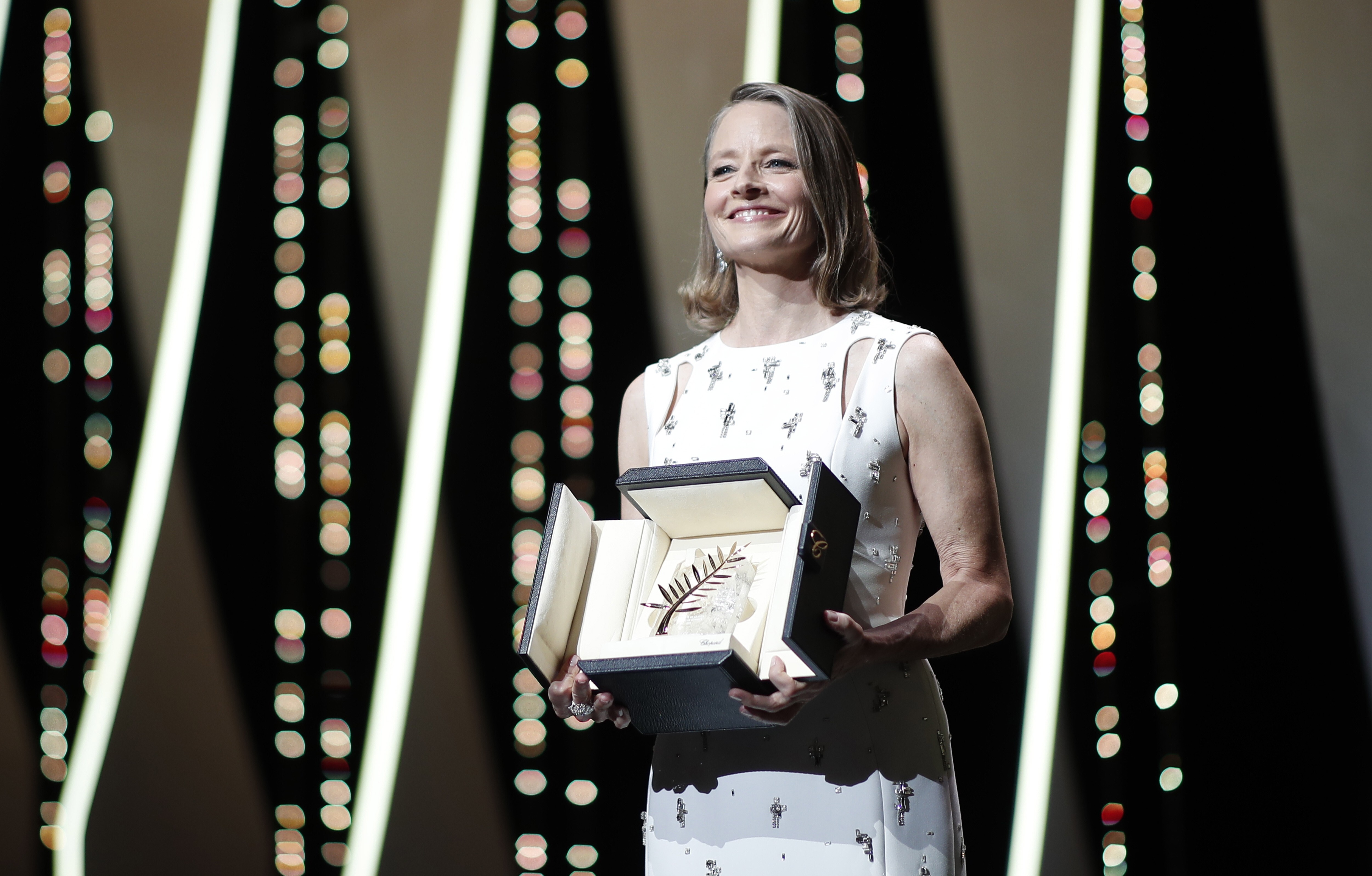 Jodie Foster wins the honorary Palme d'Or at the Festival de Cannes opening ceremony