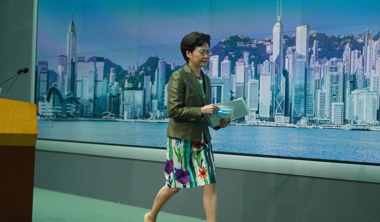 Chief Executive Carrie Lam has pledged to launch the travel bubble with Singapore as soon as possible, but says its new approach must first be studied. Photo: Sam Tsang