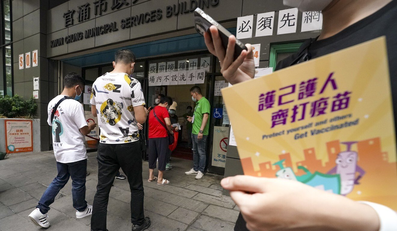 About 688,000 Hongkongers have so far taken the Sinovac jab. Photo: Felix Wong