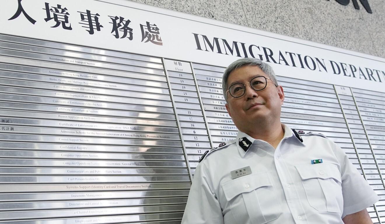 Director of Immigration Au Ka-wang. Photo: Winson Wong