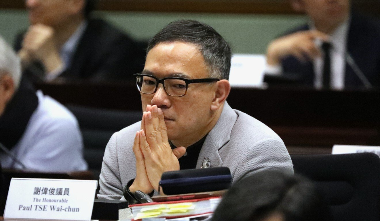 Lawmaker Paul Tse. Photo: Nora Tam