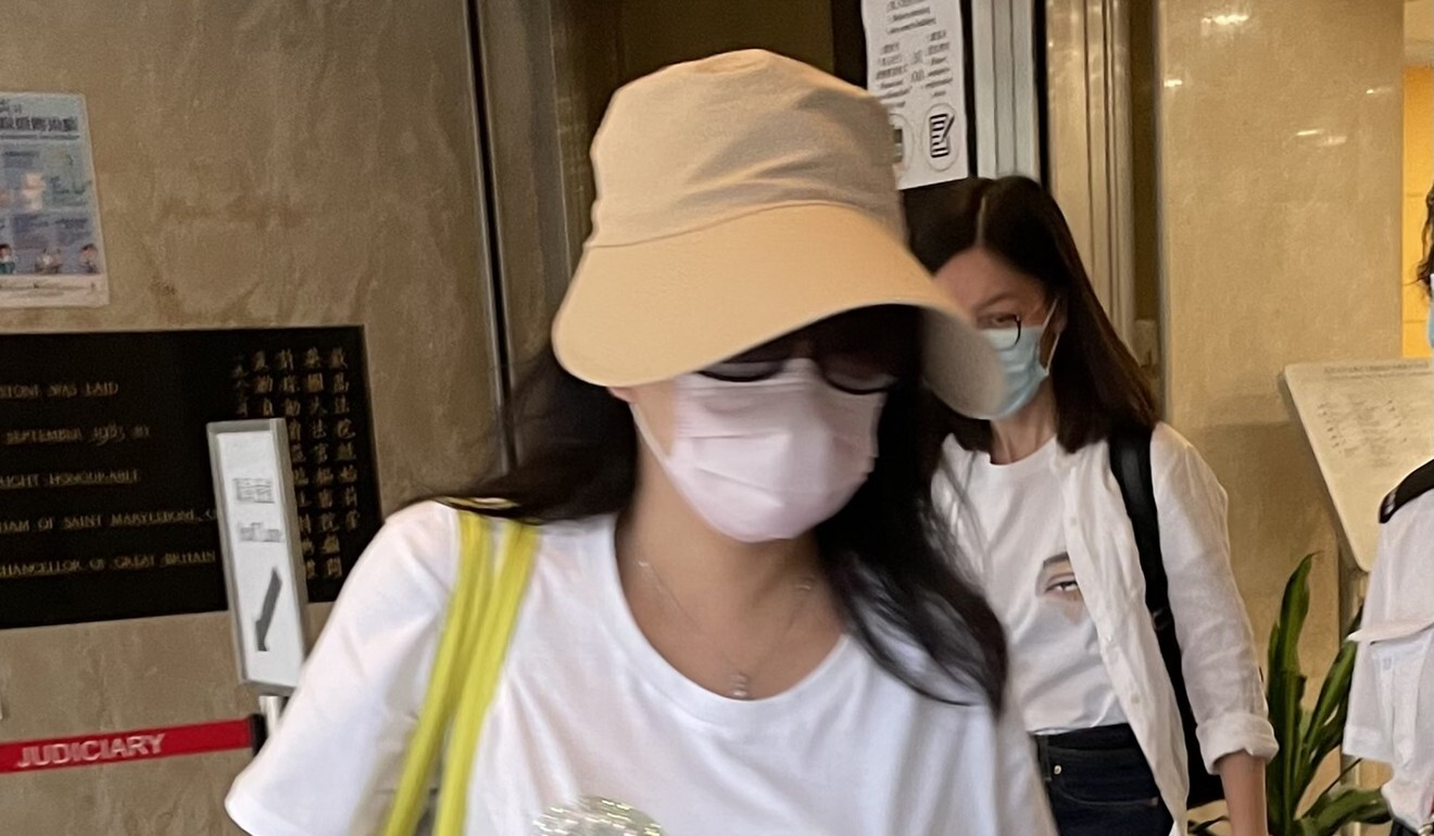 Beauty centre owner Chau Sin-man leaves the High Court. Photo: Jasmine Siu