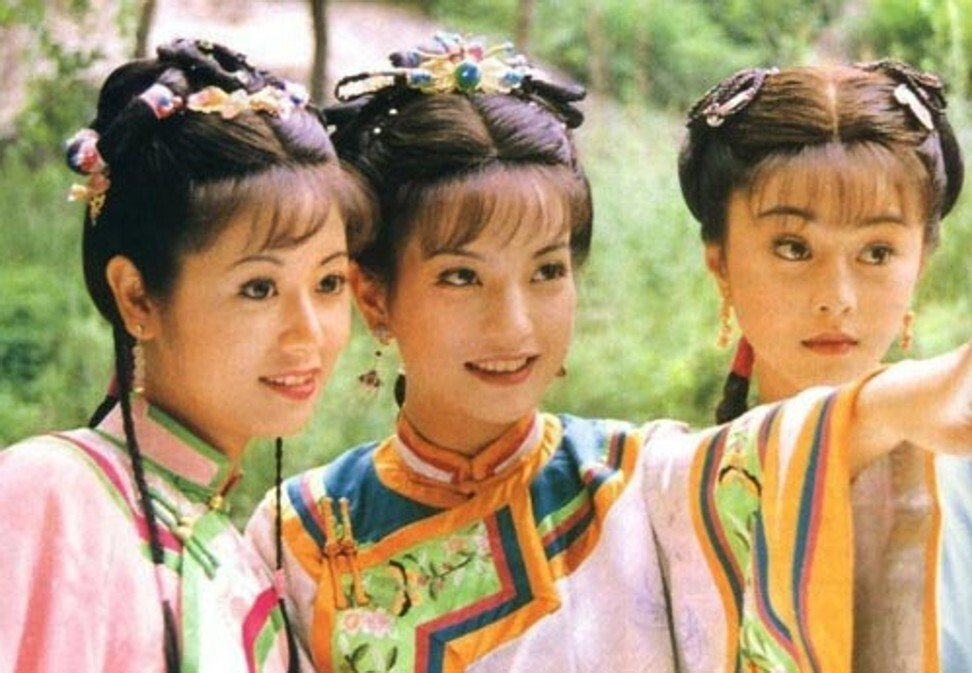 Lin Xinru (left), Zhao Wei (centre) and Fan Bingbing became megastars after their roles in the television show My fair princess. Photo: Handout