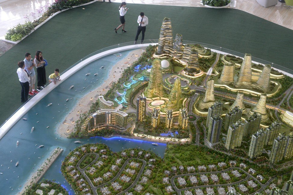 A model of the Forest City development. Photo: AFP.