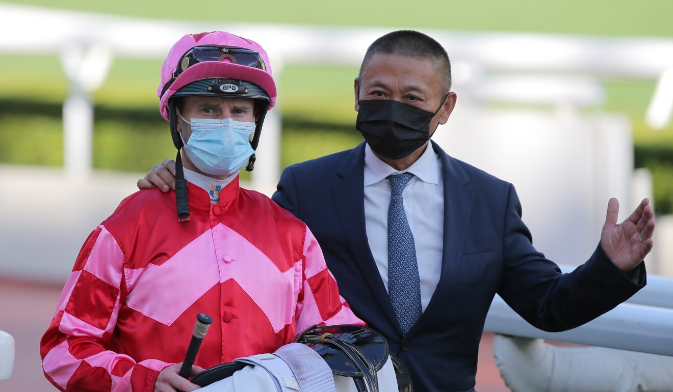 Danny Shum (right) provided Zac Purton with more winners than any other trainer last season.