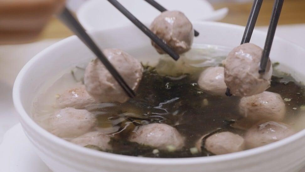 Thịt bò viên được phục vụ tại nhà hàng Chaoshan Tower là một món ăn phổ biến trong phong cách ẩm thực Quảng Đông của người Triều Châu.