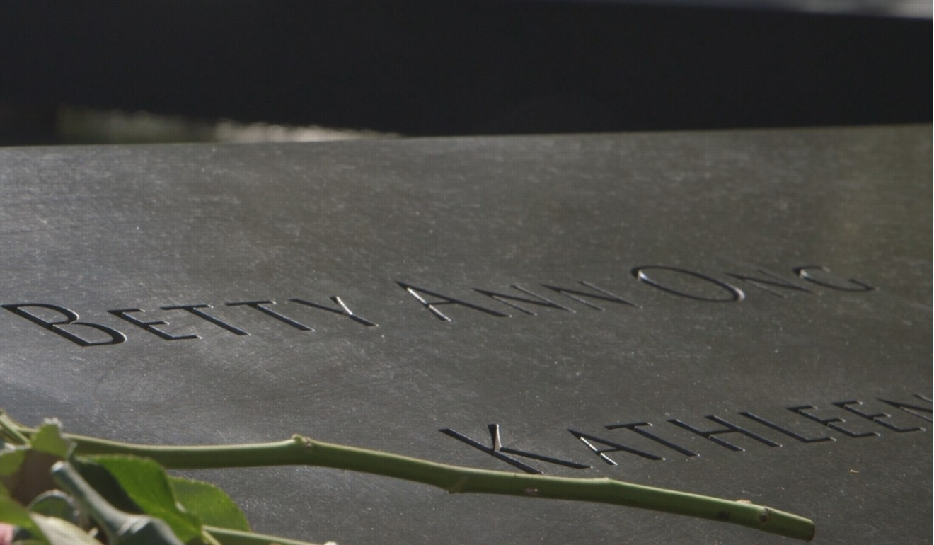 Ong's etching at the 9/11 Memorial in New York City. Photo: Mantai Chow