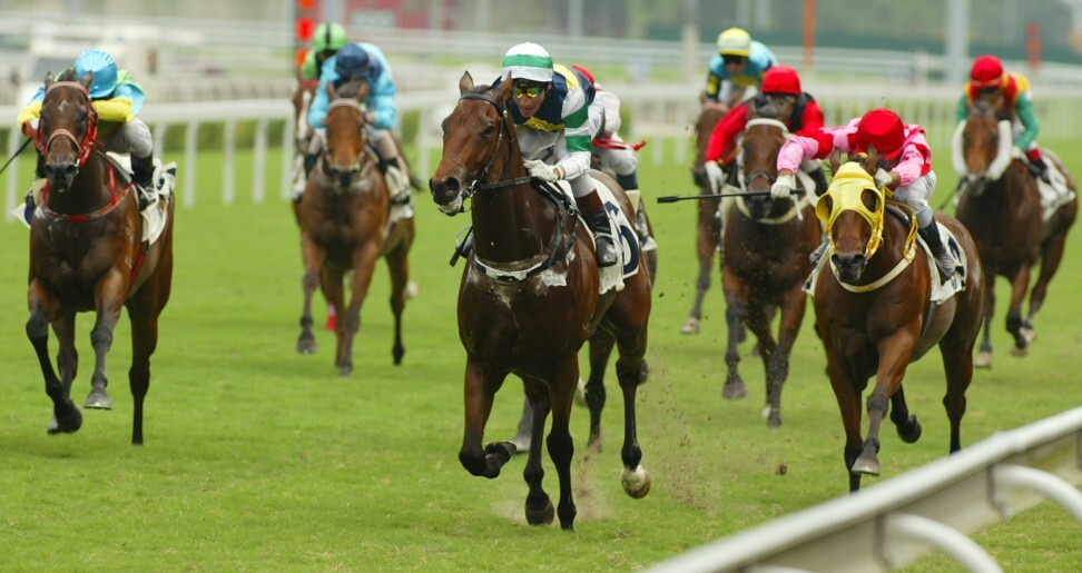 Sacred Kingdom (middle) salutes in 2007.