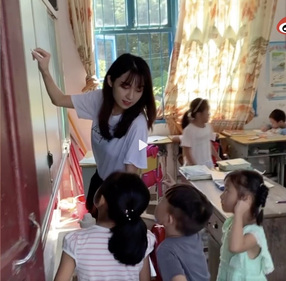 The teacher admitted she raised donations for her unlicensed charity and charged volunteers 5,000 yuan to teach in rural schools for two days followed by three days of travel. Photo: Weibo