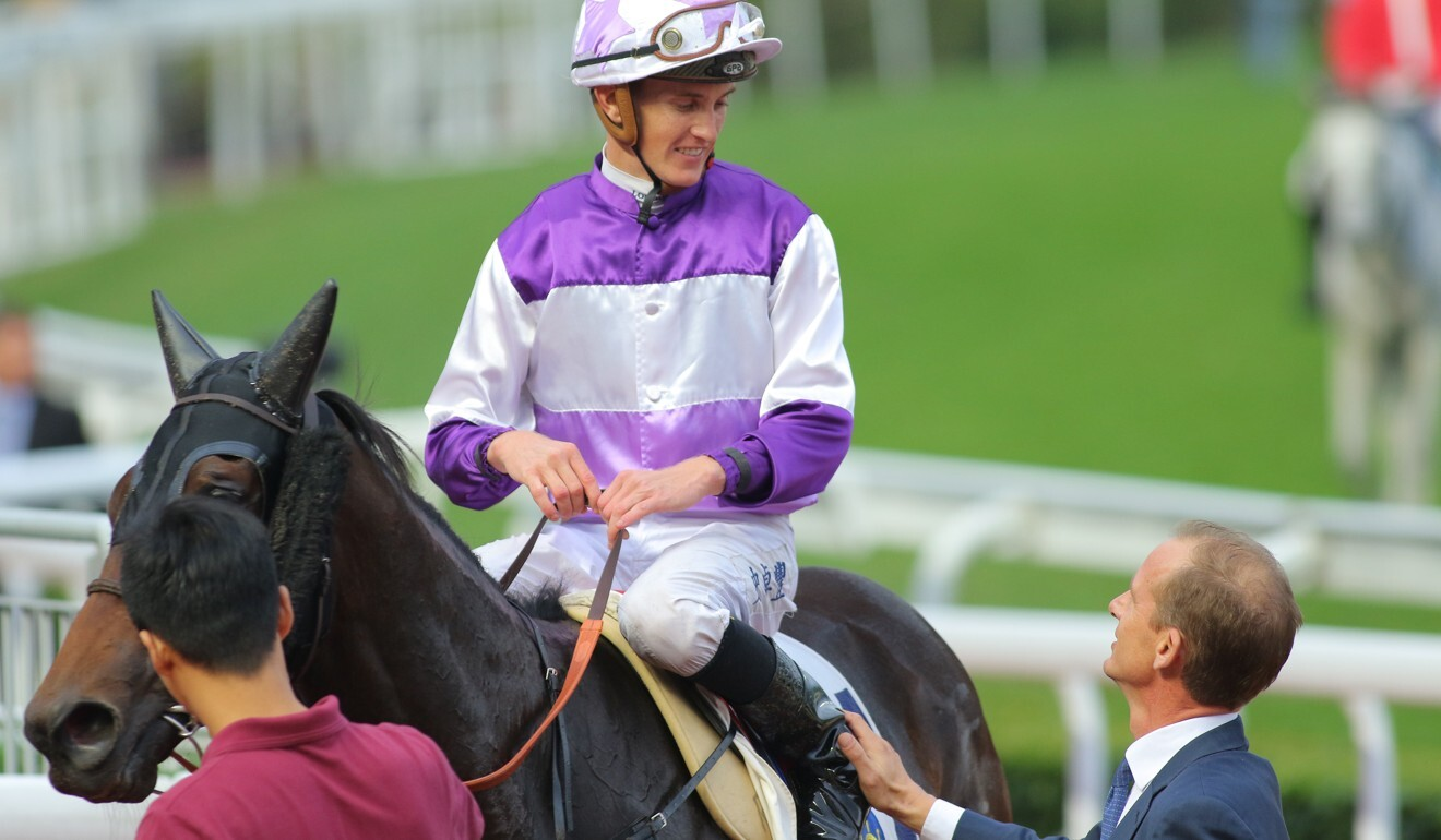 Jockey Chad Schofield and trainer Richard Gibson discuss a Rattan victory.