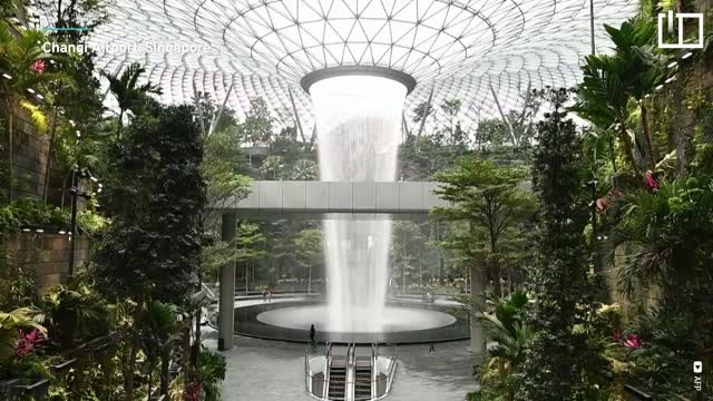 First looks at the world's tallest indoor waterfall