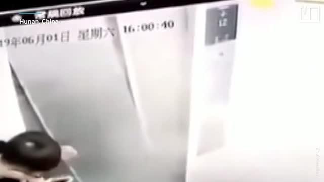 Man's 'kung fu' destroys lift doors