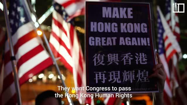 'President Trump, please liberate Hong Kong!'