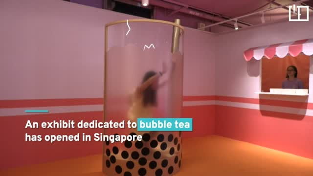 Swim in a sea of bubble tea