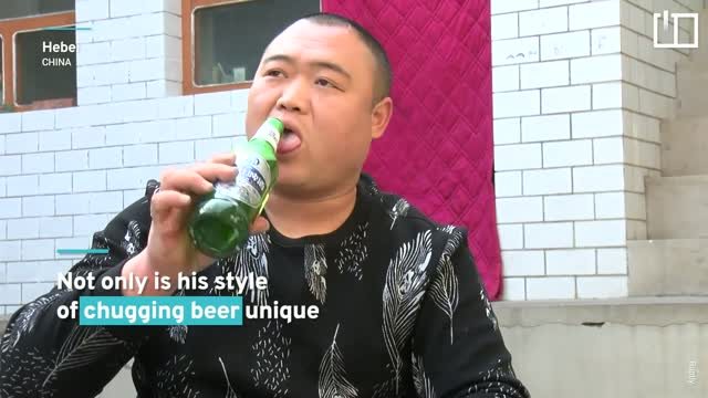How a beer drinking Chinese man became an online sensation