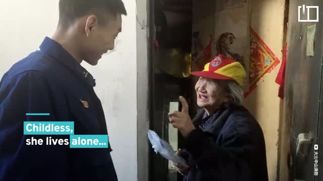 Fire station official becomes elderly woman's 'grandson'