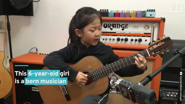 6-year-old guitarist takes social media by storm