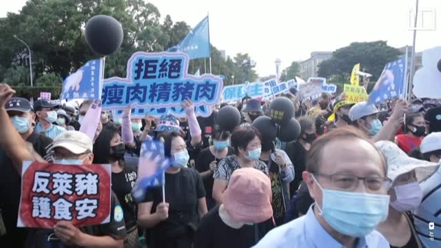 Taiwan's pork protest against the US